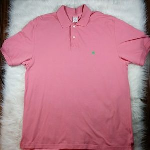 Brooks Brothers Mens Pink 2 Button S/S Polo XL